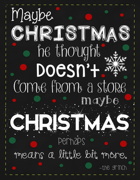 How The Grinch Stole Christmas Quotes How the Grinch Stole Christmas Quote Pictures by Miss Papeck | TpT How The Grinch Stole Christmas Quotes