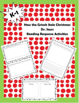 How The Grinch Stole Christmas Book.How The Grinch Stole Christmas Reading Activities