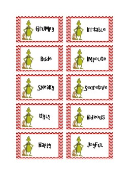 How the Grinch Stole Christmas Synonyms