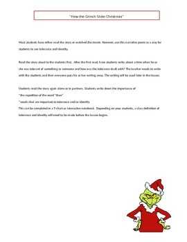 """""""How the Grinch Stole Christmas"""" for Middle School"""