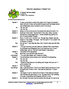 Readers Theatre: How the Leprechaun Tricked Tom - a trickster tale from Ireland