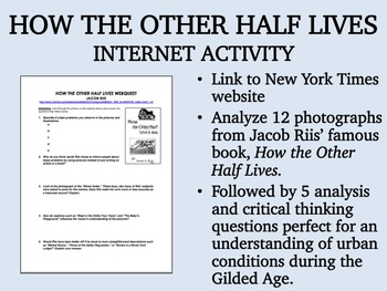 How the Other Half Lives Internet Activity - USH/APUSH