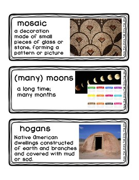 How the Stars Fell Into the Sky Readygen Grade 4 Vocabulary