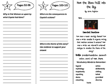 How the Stars Fell Into the Sky Trifold - ReadyGen 4th Grade Unit 2 Module A