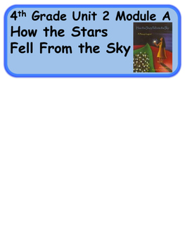 ReadyGen How the Stars fell into the Sky Vocabulary / Word Wall Cards Unit 2