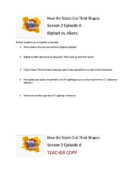How the States Got Their Shapes Season 2 Episode 6 Bigfoot vs Aliens