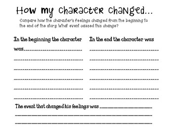 How the character changed