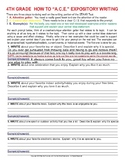 How to A.C.E. Expository Writing 4th Grade