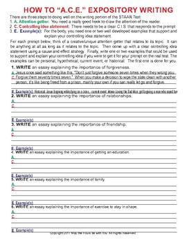 How to A.C.E. STAAR Expository Writing 7th Grade