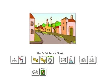How to Act Out and About social story Unity 84 Sequenced