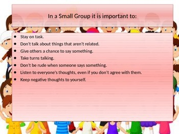 How to Act in a Small Student Learning Group Social Skills