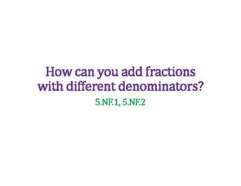How to Add Fractions with Unlike Denominators PowerPoint