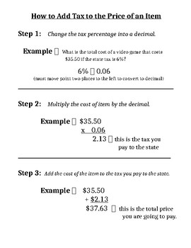 How to Add Sales Tax to Total Cost