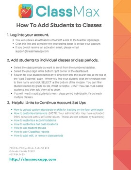 How to Add Students to ClassMax Classes (For ClassMax Schools)