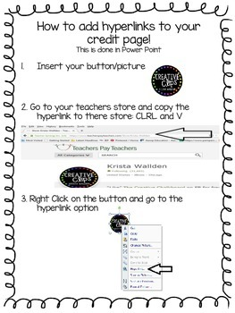 How to Add a Hyperlink to your TPT product