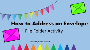 How to Address an Envelope- File Folder-Autism