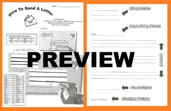 How to Address an Envelope & Write a Formal Friendly Letter: Activity Worksheet