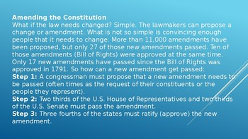 How to Amend the US Constitution