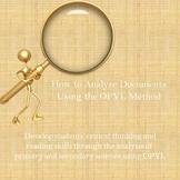 How to Analyze Documents Using the OPVL Method