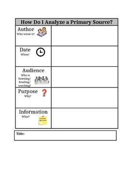 How to Analyze a Primary Source