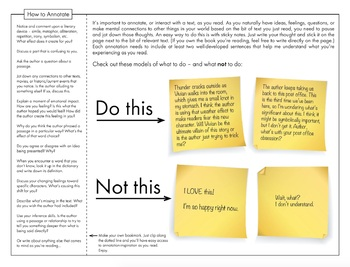 How to Annotate Text, Annotations, FREE Sticky Note Method Handout with Bookmark