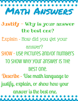 How to Answer Math Questions