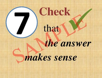 How to Answer Math Questions Anchor Chart