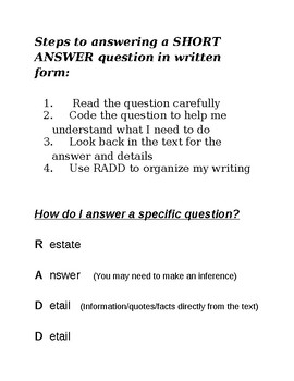 How to Answer Specific Questions (Close Reading Questions)