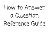 How to Answer WH- Questions Reference Book