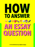 Essay Writing - Graphic Organizer and Template with Example