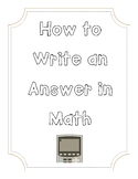How to Answer in Math Class
