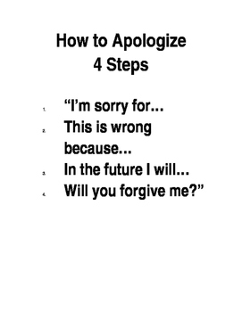 How to Apologize Poster