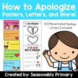How to Apologize: Posters, Letters, Sort, and More!