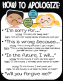 How to Apologize and Say Sorry Poster - Responsive Classro