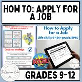 How to Apply for a Job ~ Boom Cards ~ Grades 9-12 & Homeschool