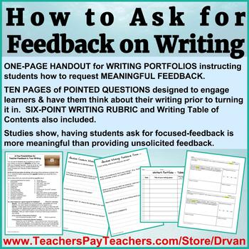 How to Get Students to Ask for Meaningful Feedback on Their Writing