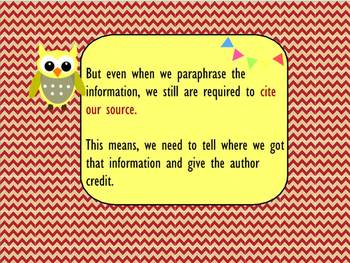 Avoiding Plagiarism by Paraphrasing and Citing Sources