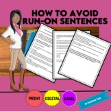 Avoid Run-On Sentences in Your Writing Grammar Worksheets