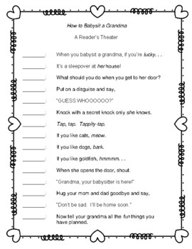 How to Babysit a Grandma  --  A Reader's Theater