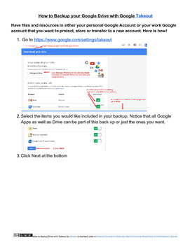 How to Back Up Your Google Drive and other Google Account