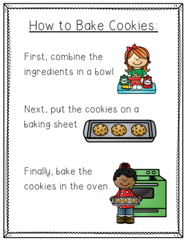 How to Bake Cookies -- Instructional Text