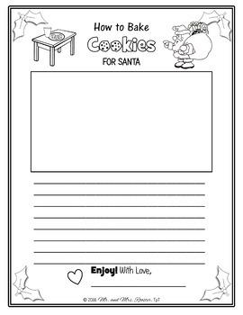 How to Bake Cookies for Santa - Creative Writing {Christmas, Holiday, Free}
