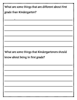 How to Be a First Grader End of the Year Writing