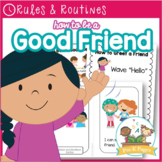 How to Be a Good Friend Editable Poster and Books