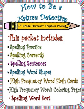 How to Be a Nature Detective: First Grade Spelling and Sig