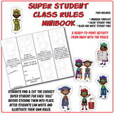 How to Be a Super Student - Classroom Rules Minibook Cut a