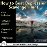 """Health Lesson: """"Beat Stress and Depression"""" Scavenger Hunt"""