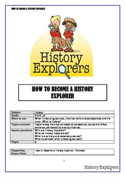 How to Become a History Explorer (story)