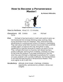 How to Become a Perseverance Master! - Small Group Reader's Theater