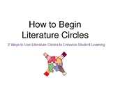 How to Begin Literature Circles